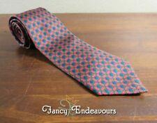 Hermes France Horsebit 990 SA Three Color Vintage EUC Silk Tie Necktie