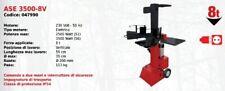 Fendeuse à Bois Éléctrique Vertical Ase 3500-8V Série Attila À Moteur 230 Volt