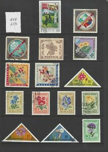 Sheet of Mongolia stamps (Ref 253)