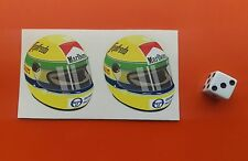Ayrton Senna Helmet F1 Sticker Formula 1 McLaren 50mm x 50mm Williams F1