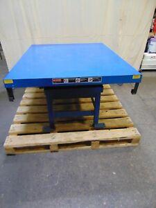"Southworth Electric Hydraulic Scissor Platform Lift Table 60"" Up 26"" Down"