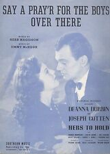 Say A Prayer For The Boys Over There Sheet Music Piano Voice Guitar Durbin