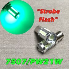 STROBE FLASH Front Signal Light Bulb BAU15S 7507 PY21W Green SMD LED W1 JAE