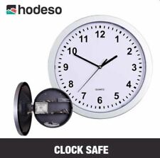 Hodeso Wall Clock with Hidden Safe (Silver)