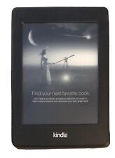 EUC Amazon Kindle Paperwhite (7th Generation, 4GB, Wi-Fi) & Purple Fintie Case