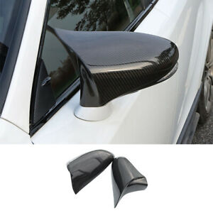 For Lexus IS ES RC CT LS GS Real Carbon Fiber Ox Horn Rearview Mirror Cover Trim