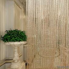Tulle Voile/Tissu/Perles/ Chaîne Rideaux de Porte Fenêtre Maison Chambre Moderne