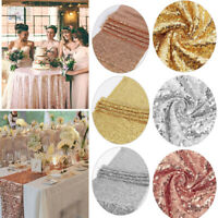 Glitter Sequin Tablecloth Table Cloth Cover Overlay Wedding Banquet Party Decor