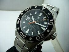 TAG HEUER AQUARACER STEEL DIVERS WATCH 500 METERS -  1660 FEET! NEW BOX & P.