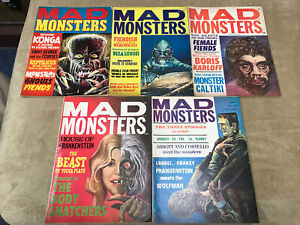 Mad Monsters Lot Of 5 # 1 2 3 4 5 Vintage Horror Like Famous Charlton