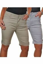 Cotton Patternless Casual Shorts for Women
