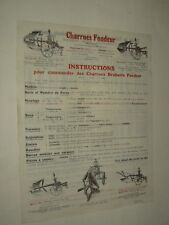 Prospectus Agricole Charrue FONDEUR Tracteur Tractor Traktor Prospekt Brochure