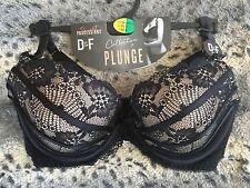 PRIMARK BLACK LACE PLUNGE BRA 38DD NEW SEXY GIFT