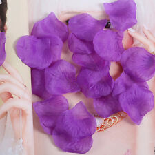 400-1000ps Colorful Silk Fake Flower Rose Petals Wedding Party Decor