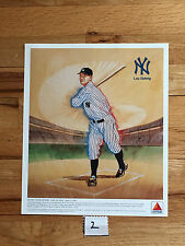 Lou Gehrig Ny Yankee 1989 Citgo Color Lithograph Printed on Glossy Type Paper.