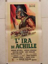 L'IRA DI ACHILLE epico regia Marino Girolami locandina TELATA orig. 1962