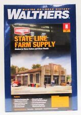 N Scale Walthers Cornerstone 933-3808 State Line Farm Supply Building Kit