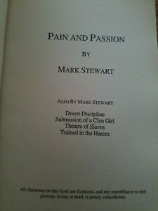 Pain & Passion Book by Mark Stewart - Silver Moon paperback erotic adult fiction