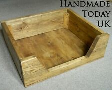 Handmade Rustic Industrial Dog Pet Bed made from Reclaimed Scaffold Wood