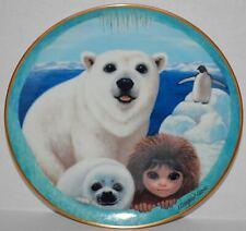 Pu'S Polar Playground by Margaret Keane Porcelain Franklin Mint Plate