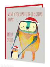Brainbox Candy Wildstyle Christmas Ninja Skills funny penguin bear animals card