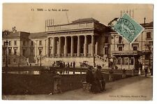 CPA 37 - TOURS (Indre et Loire) - 11. Le Palais de Justice (petite animation)