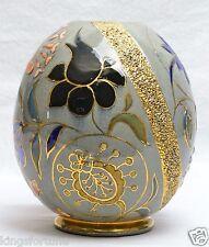 William Dell Cincinnati Art Pottery Hungarian Faience Egg, 1890's
