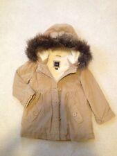 BABY GAP Girl's Light Brown Tan Corduroy Fleece COAT Jacket with Hood Size S (5)