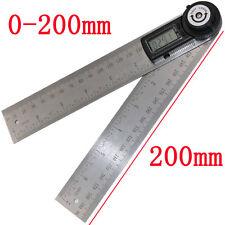 "7"" 2 In1 Electronic Protractor Digital Goniometer Angle Finder Miter Gauge Ruler"