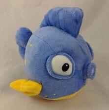 "Disney Puffer Fish Plush 5.5"" Blue Yellow"