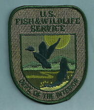 U.S. FISH & WILDLIFE SERVICE DEPARTMENT OF THE INTERIOR POLICE PATCH GREEN