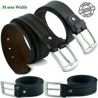Mens Belts 38 mm Genuine Leather Belt Quality Metal Pin Buckle AUS