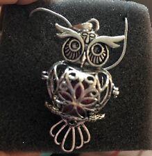 Maromalife Premium Owl Lava Stone Aromatherapy Essential Oil Diffuser Necklace