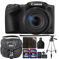 Canon PowerShot SX420 IS HD Wi-Fi 20MP Digital Camera 32GB Accessory Kit Black