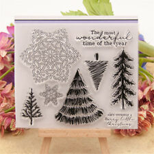 Christmas trees snowflakes Scrapbooking Album Paper Card Decor Diary Craft