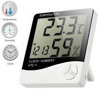 LCD Digital Termometro Higrometro Habitación Bebé Al Aire Libre/Interior Reloj Temperatura UK