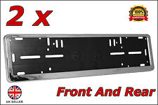 2x Delux Chrome Car Custom Number Plate Licence Holder Mercedes S-Class W220