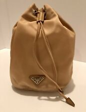 PRADA Fabric Bucket Drawstring Vanity Case OPALINE New With Tags