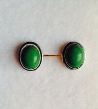 Beautiful Copper Green Turquoise 925 Silver Studs
