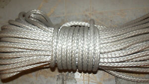 """NEW 5/16""""x 100' Dyneema Winch Line, Synthetic Pulling Rope, 12-Strand Braid"""