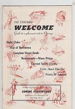 SEPT 2 to SEPT 16 194? CHICAGO WELCOME entertainment magazine BURLESQUE - MUSIC