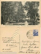 Cartolina saluti da Monticelli Pavese, pescatore - Pavia, 1950