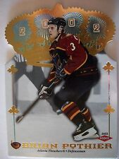 2001-02 CROWN ROYALE # 148 BRIAN POTHIER , ATLANTA !! BOX 7