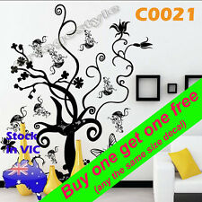 C0021 Butterfly tree Wall Decals Stickers home school office room decor wardrobe