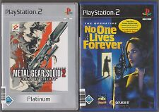 No One Lives Forever + Metal Gear Solid 2 Sons of Liberty Sammlung Shooter PS2