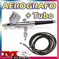 AEROGRAFO DOPPIA AZIONE + TUBO TELATO PENNA AEROGRAFIA
