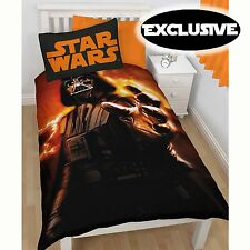 STAR WARS 'DARTH VADER' SINGLE DUVET COVER NEW 100% OFFICIAL BEDDING