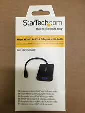 STARTECH MCHD2VGAA2 Micro HDMI to VGA Adapter with Audio