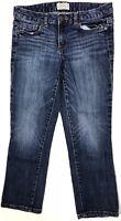 Aeropostale Women's Capri Jeans Pants Size 3/4 Actual W28 L23 Dark Wash
