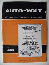 RTA revue technique automobile AUTO VOLT schéma-fiche AUSTIN MAESTRO 1300 / 1600